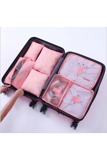 7pcs/Set Luggage Travel Bags Packing Cubes Organizer Home Clothing Storage Bag 升级版旅行收纳袋7件套行李箱义务收纳包