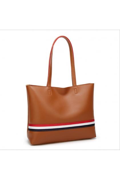 British style Tote Bag soft PU leather 欧美时尚单肩包英式手提子母包托特包