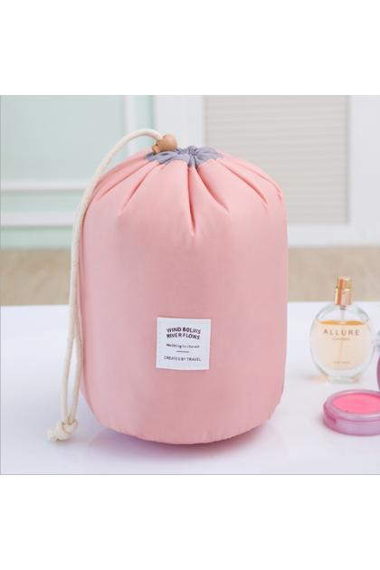 Drawstring Round Bag Travel Make Up Bag 韩式圆桶抽绳洗漱包化妆包旅行收纳包