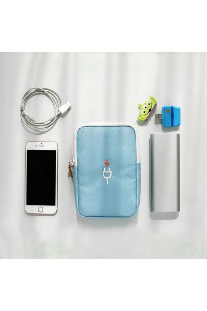 Carry Pouch phone cable powerbank 韩式数码整理包收纳包