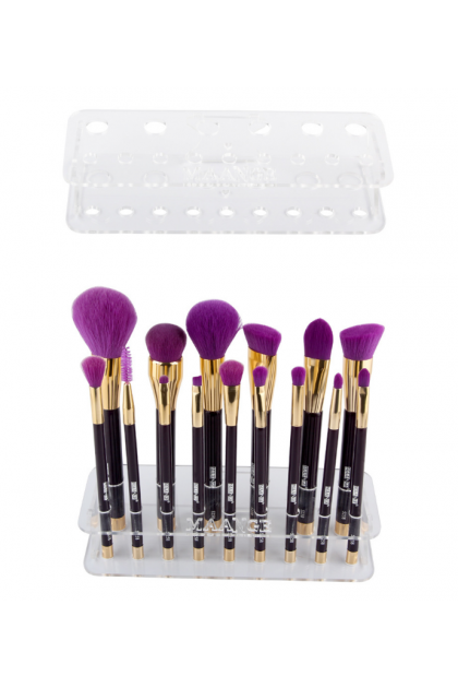 Solid Acrylic 15 Hole Makeup Brush Stand Display Rack 美妆工具15支化妆刷晾刷架
