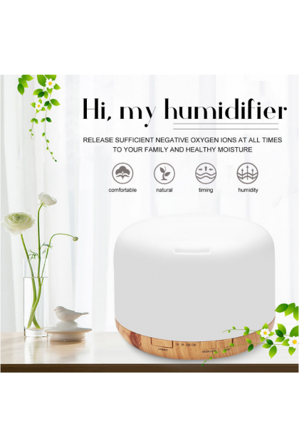 500ml Air Humidifier Essential Oil Diffuser Aroma Aromatherapy with Color Lamp