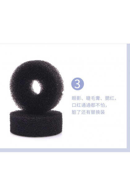 [Duo Sponge] Brush Color Removal Sponge, Clean Makeup Brushes Easily/Swiftly Switch To Next Color/Remove Shadow Color from Makeup Brushes, Perfect for wet eyeshadow application Compact Size for Travel/Home 双层活性炭清洁海绵快速干洗化妆刷眼影方便换色