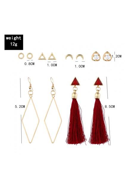 Bohemia Simple Style Earrings Set 波西米亚风耳环套装