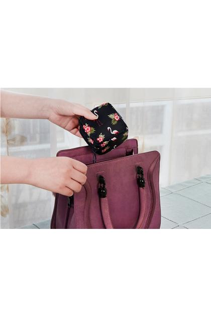 Waterproof Mini Nylon Cosmetic Lipstick Bag 花色防水美妆物品口红收纳包
