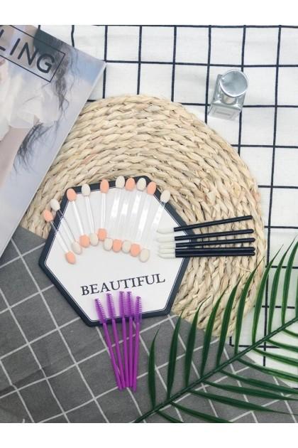 Party Set Easy Pack Disposable Multi Use Eye Brush Lip Brush 美妆课必备一次性眼影刷唇刷试用包