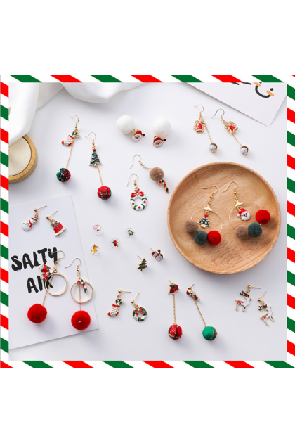 【Xmas Gift】Jingle Bell Santa Series Earrings 圣诞节耳环系列一