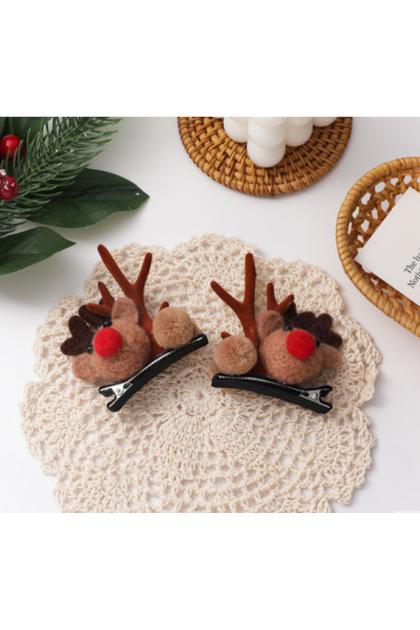 【Xmas Gift】Christmas Elk Mushroom Antlers Hair Clips 圣诞节鹿角蘑菇发夹发箍