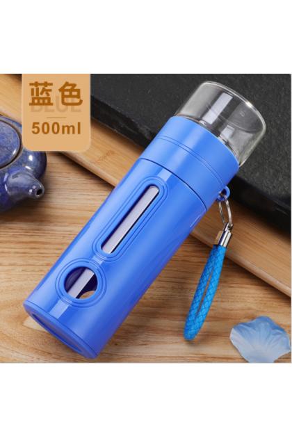Glass Water Bottle Tea & Water Separation Thermo with Tea Infuser  耐热玻璃茶水分离水壶水杯
